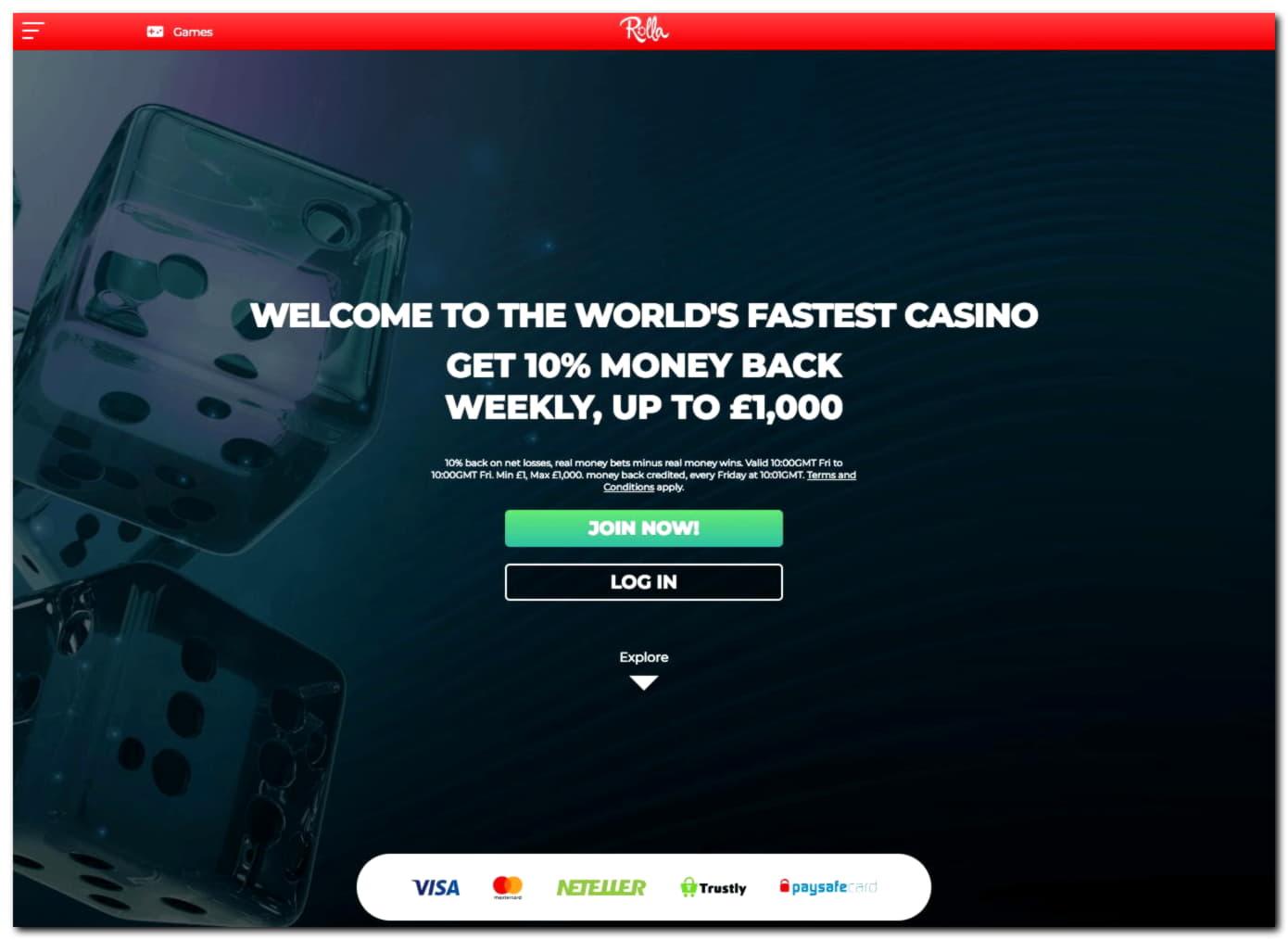 Dunderカジノの€225無料チップ